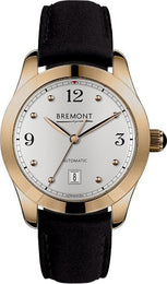 Bremont Watch Solo 32 AJ Rose Gold Ladies SOLO-32-AJ/RG-WH/R Black Nubuck