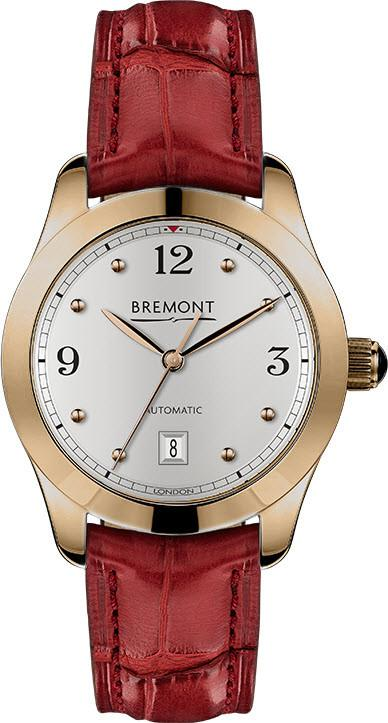Bremont Watch Solo 32 AJ Rose Gold Ladies SOLO-32-AJ/RG-WH/R Dark Red Alligator
