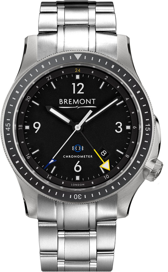 Bremont Watch Boeing Model 1 Ti-GMT Bracelet BB1-TI-GMT/BK/BR