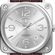 Bell & Ross Watch BRS Officer Silver BRS92-SI-ST/SCR