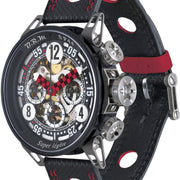 B.R.M Watch SP-44 Black And Red Hands SP-44-ADR-LIGHT