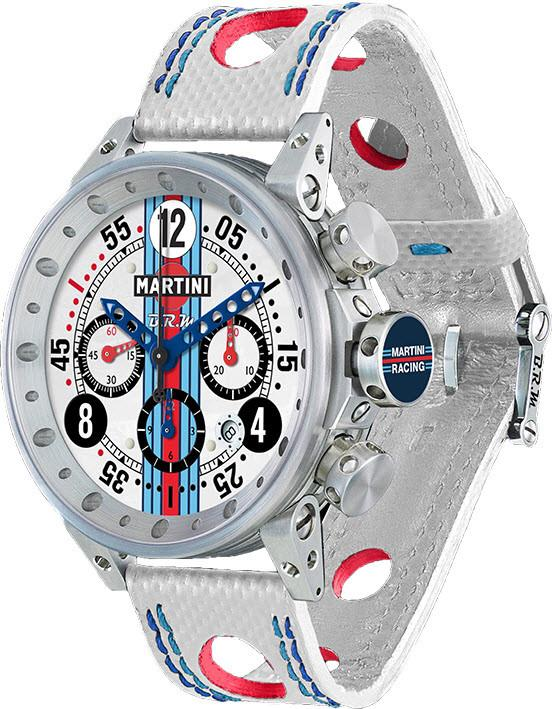B.R.M. Watch Martini Racing White V12-44-MR-01