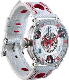 B.R.M Watch Golf Master Ladies Red Hands GF7-38-SA-SQ-AR