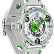 B.R.M Watch Golf Master Mens Lime Green Hands GF6-44-SA-SQ-AVP
