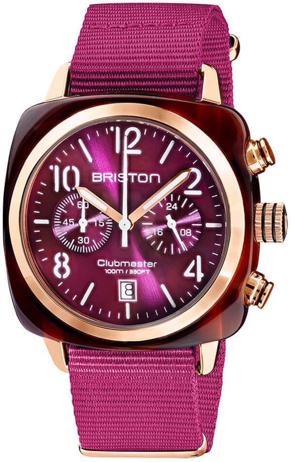 Briston Watch Clubmaster Classic Acetate Gold 19140.PRA.T.32.NC