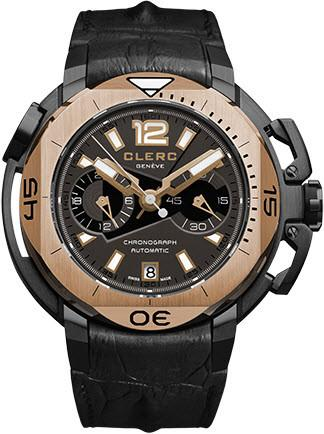 Clerc Watch Hydroscaph LE Central Chrono CHY-353 Silver