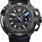 Clerc Watch Hydroscaph Central Chrono Small Second CHYE-248 Black