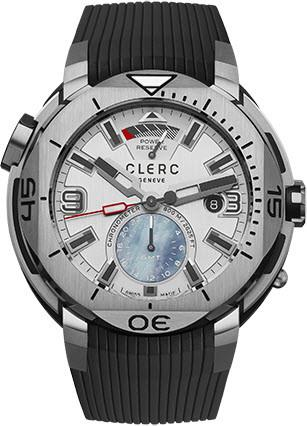 Clerc Watch Hydroscaph GMT Power Reserve GMT-1.1.1 Silver