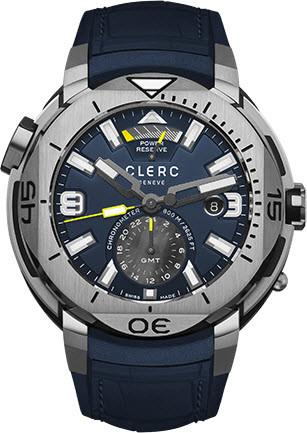 Clerc Watch Hydroscaph GMT Power Reserve GMT-1.11R.4 Navy