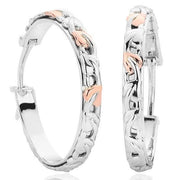 Clogau Tree Of Life Sterling Silver 9ct Rose Gold Hoop Earrings 3SCTOLE