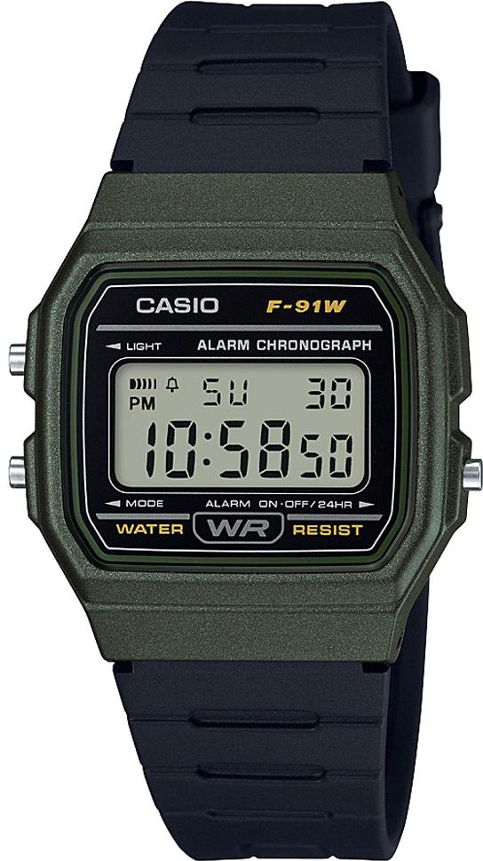 Casio Watch Microlight Alarm F-91WM-3AEF