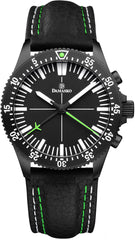 Damasko Watch DC 80 Black Leather Pin