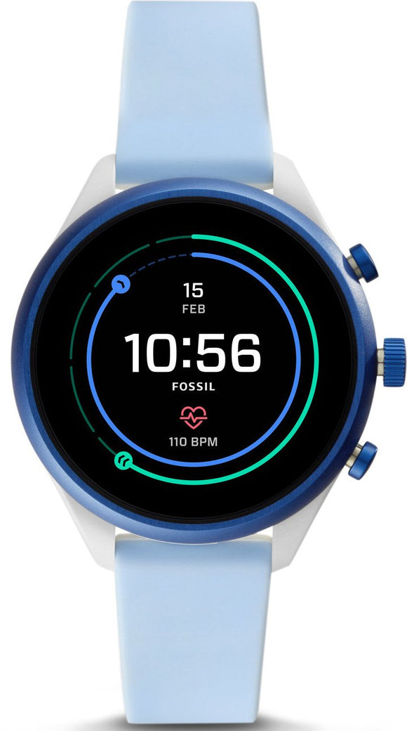 Fossil Watch Sport Smartwatch Light Blue Silicone FTW6026P.