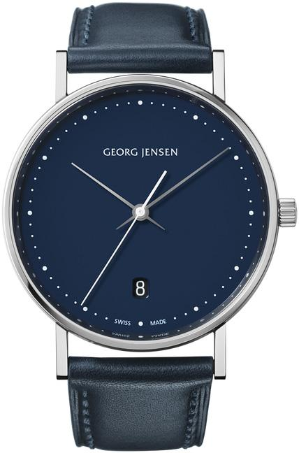 Georg Jensen Watch Koppel Quartz Blue Dial