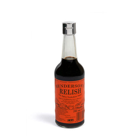 Sterling Silver Hendersons Relish Lid Complete With Hendersons Relish Bottle