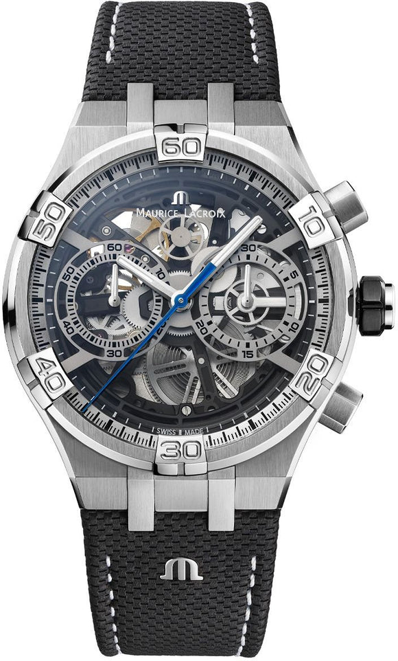 Maurice Lacroix Watch Aikon Chronograph Skeleton AI6098-SS001-090-1