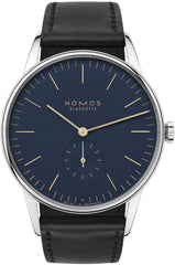 Nomos Glashutte Watch Orion 38 Midnight Blue Steel Back