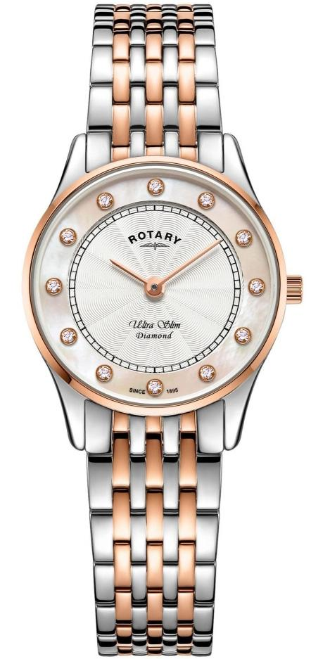 Rotary Watch Ultra Slim Two Tone Rose Gold PVD