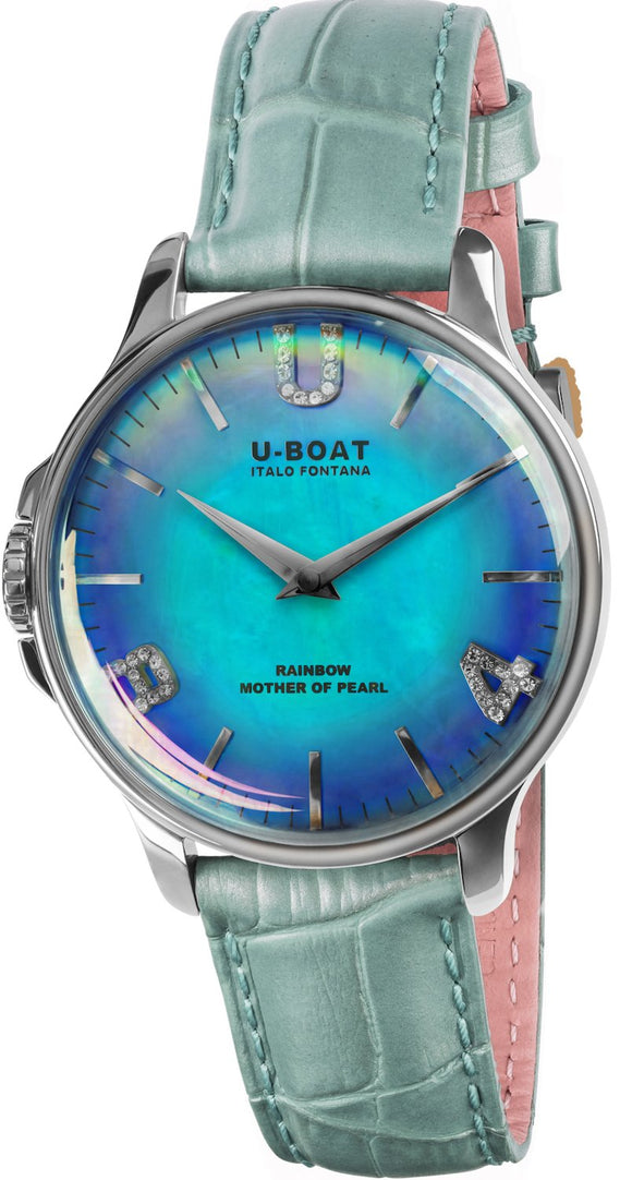 U-Boat Watch Rainbow Blue SS 8474