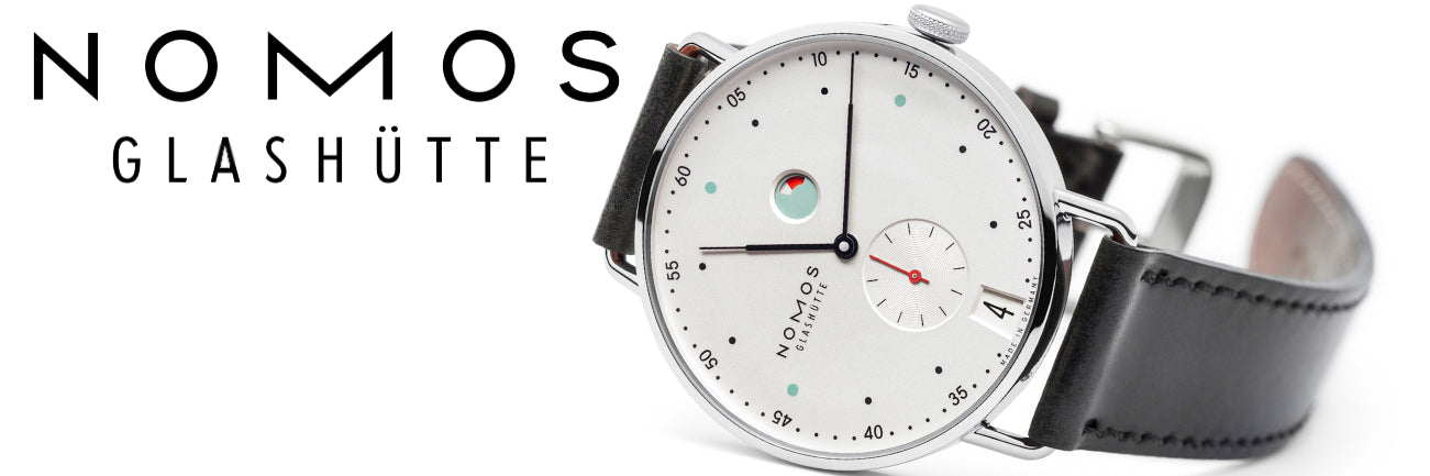 Nomos Glashutte Watches banner