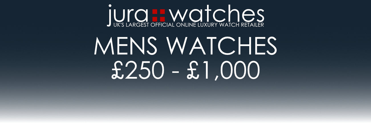 Jura Watches UK's largest official online luxury watch retailer. Mens Watches £250 - £1,000