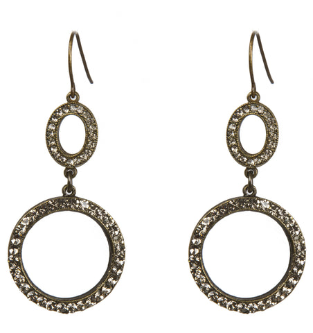 Gina Riley Double Circle Earrings Y5