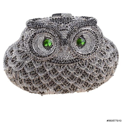 INS Handbags Owl Evening Purse H002