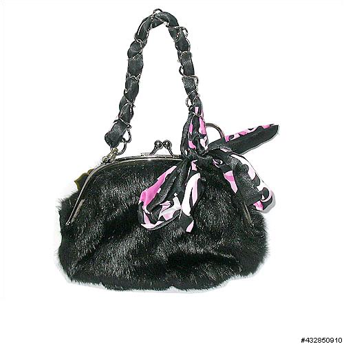 INS Handbags Faux Fur Handbag H022