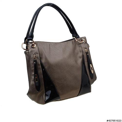 INS Handbags Large Metallic Bag H033