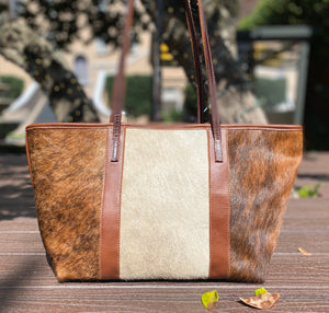 Charlie's Leather Medium Pony Hair Tote