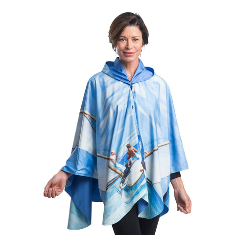 RainCaper Hopper Ground Swell Reversible Poncho