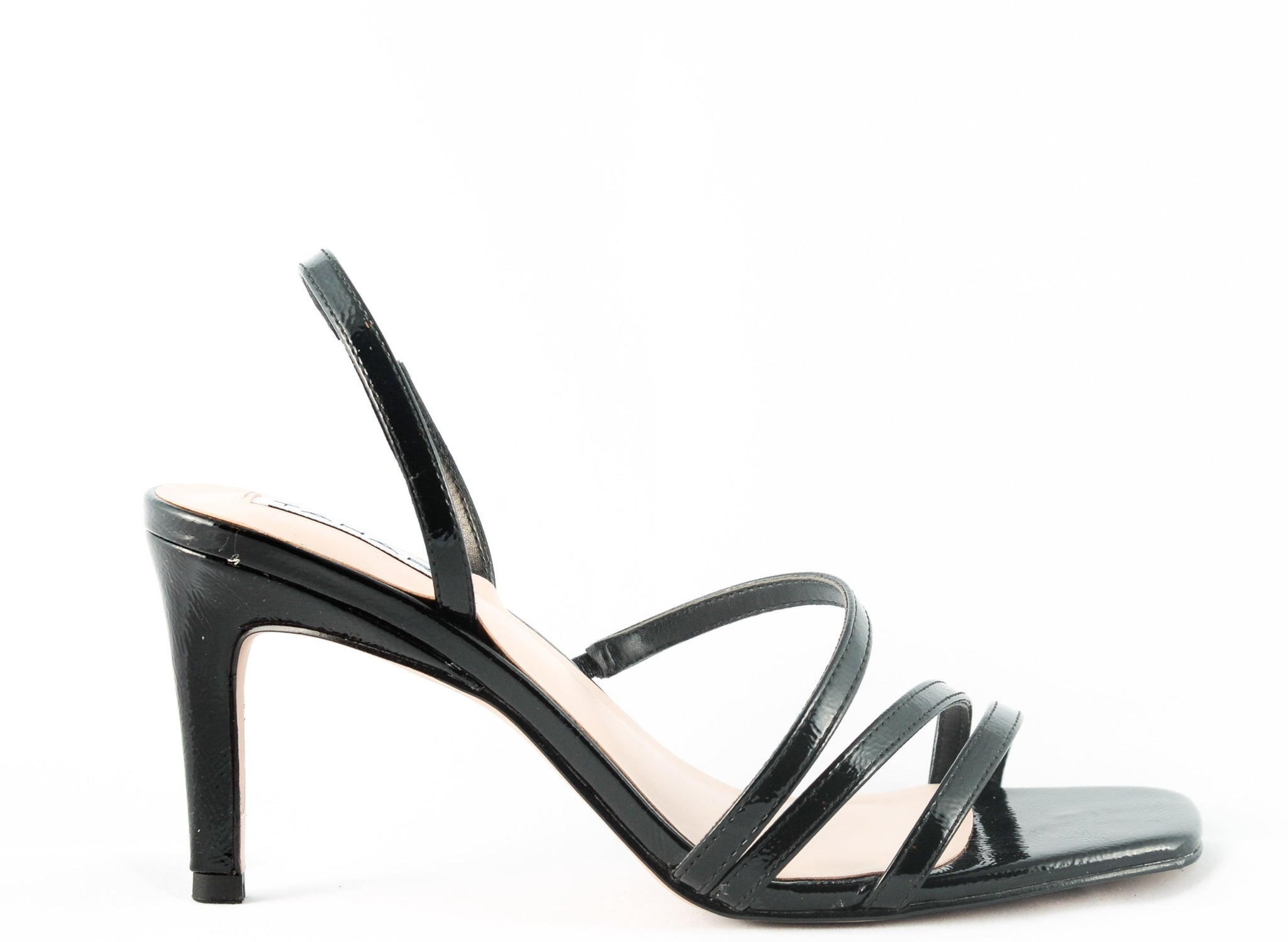 When you know you're that girl, the Dannika heel is what you wear to complement that powerful feminine energy! A simple yet effective, strappy, mid stiletto, flat head heel. In New Orleans at Shoe Be Do.
