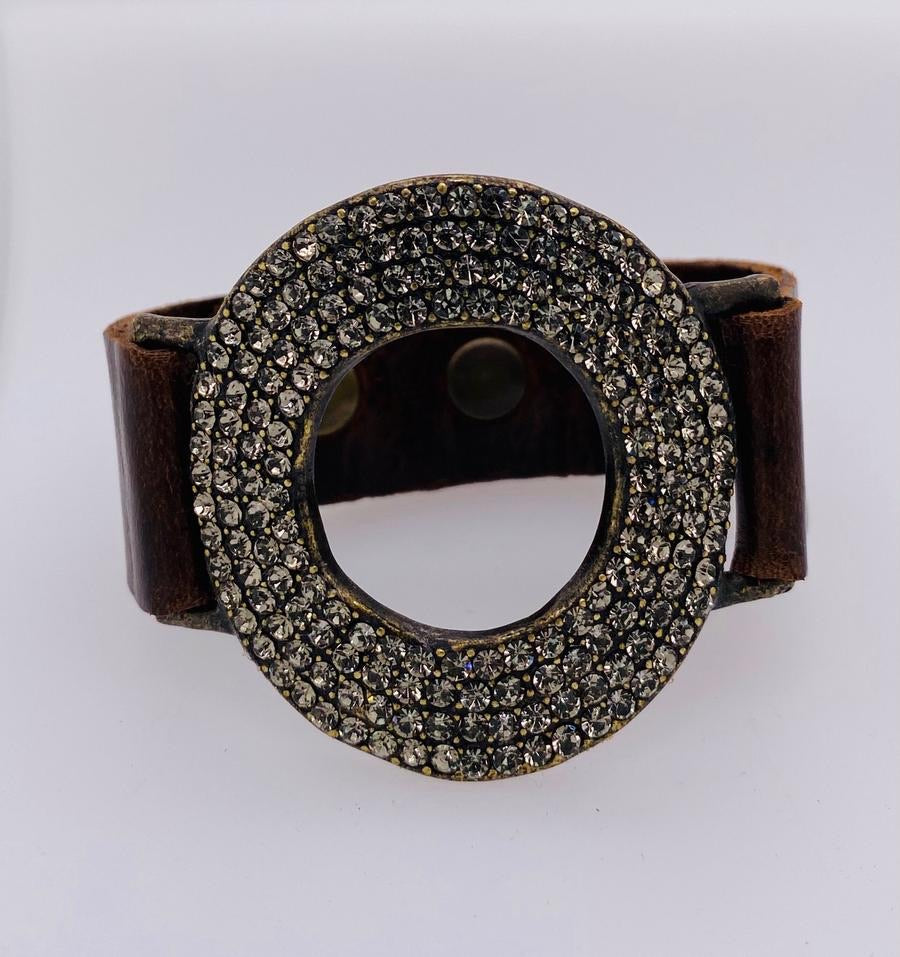 Gina Riley Donut Leather Bracelet