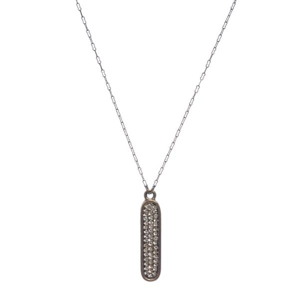 Gina Riley Oval Crystal Bar Necklace