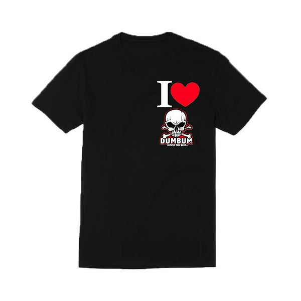 I Love Dum Bum T-Shirt (Zwart)