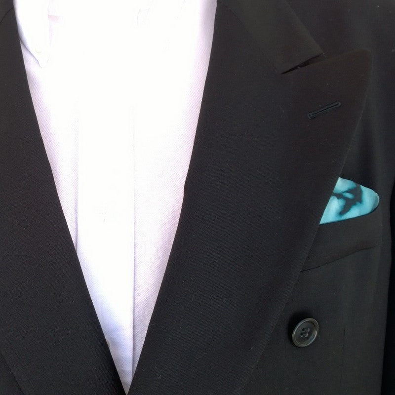 Men's Teal Pocket Square