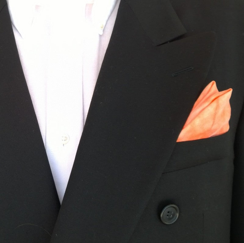 Men's Orange Pocket Square
