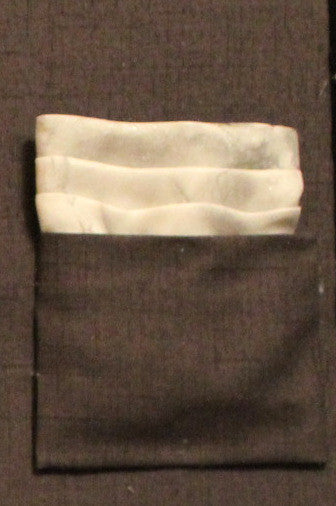 Men's Shimmer Gray Pocket Square
