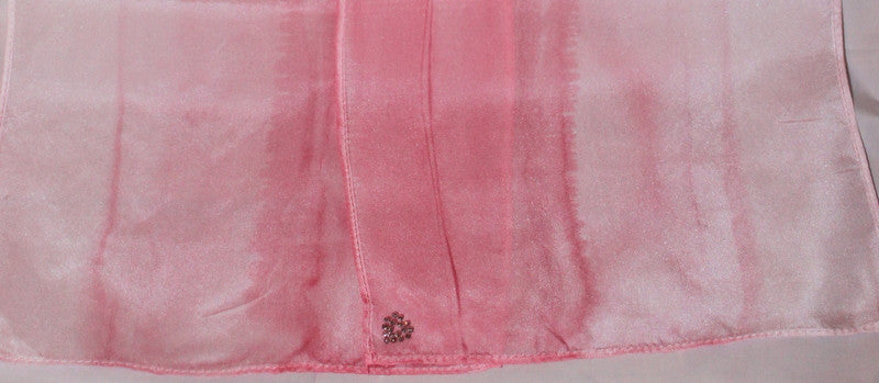 "Pink Ombre 14""x72"" Hand-Painted Silk Scarf"