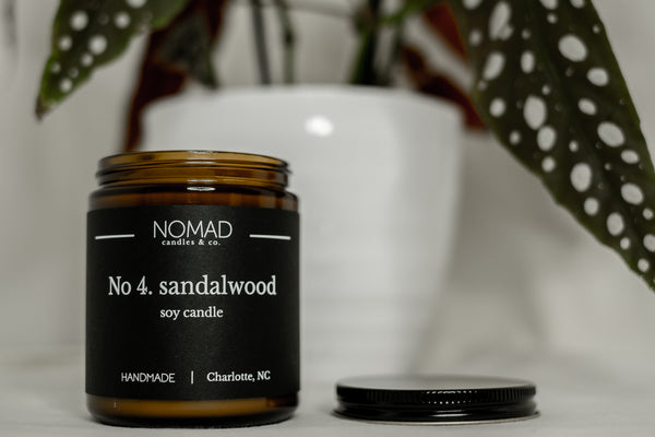 Sandalwood Wood Wick Candles - Orange | Jasmine | Vanilla