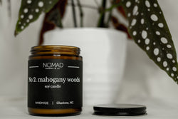 Mahogany Woods Wood Wick Candle - Orange | Amber | Vanilla
