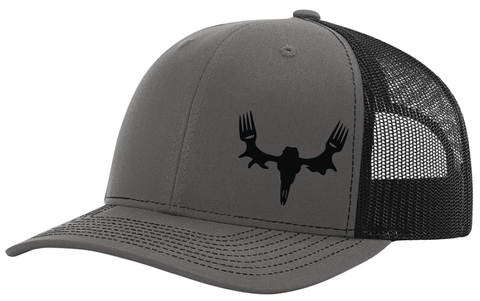 MeatEater Embroidered Hat- Charcoal/Black