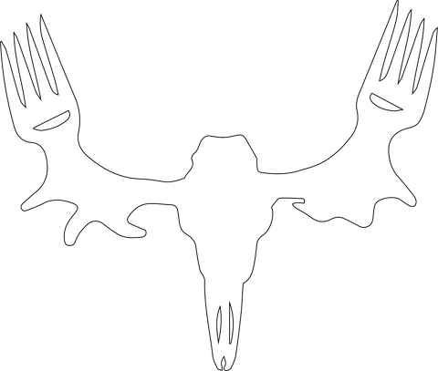 "MeatEater Sticker 6"" - White"