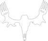 "MeatEater Decal 9"" - Black or White vinyl"