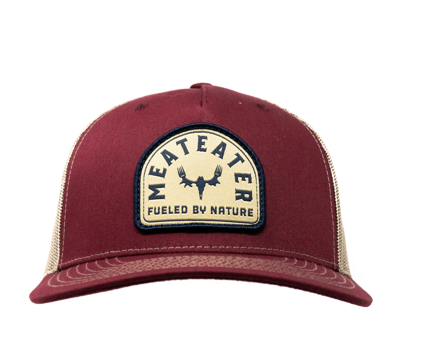 MeatEater Badge 5 panel Trucker - Dark Red