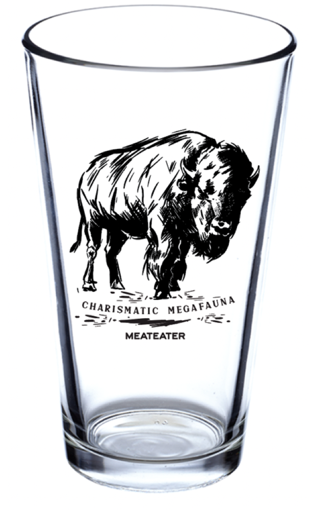 Charismatic Megafauna Bison Pint Glass