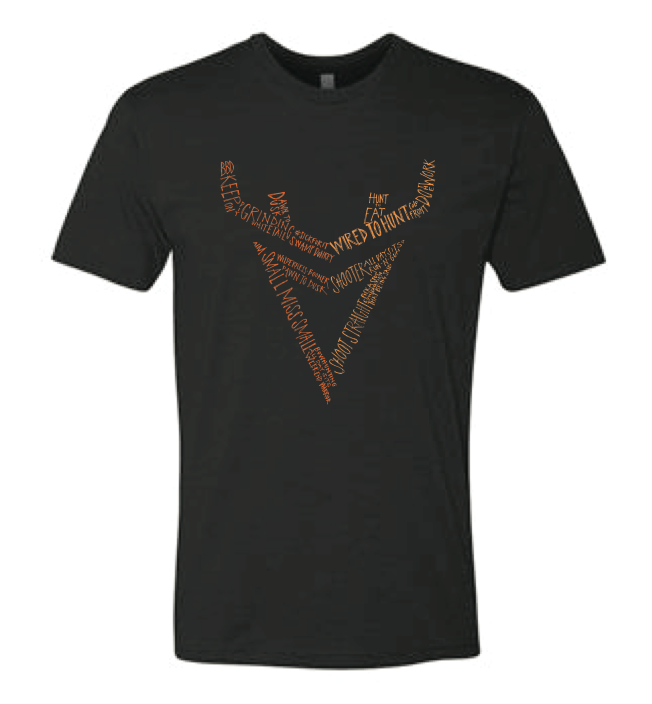 Wired to Hunt Words Logo T-shirt