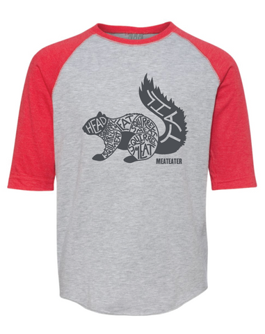 Youth Squirrel Meat Raglan