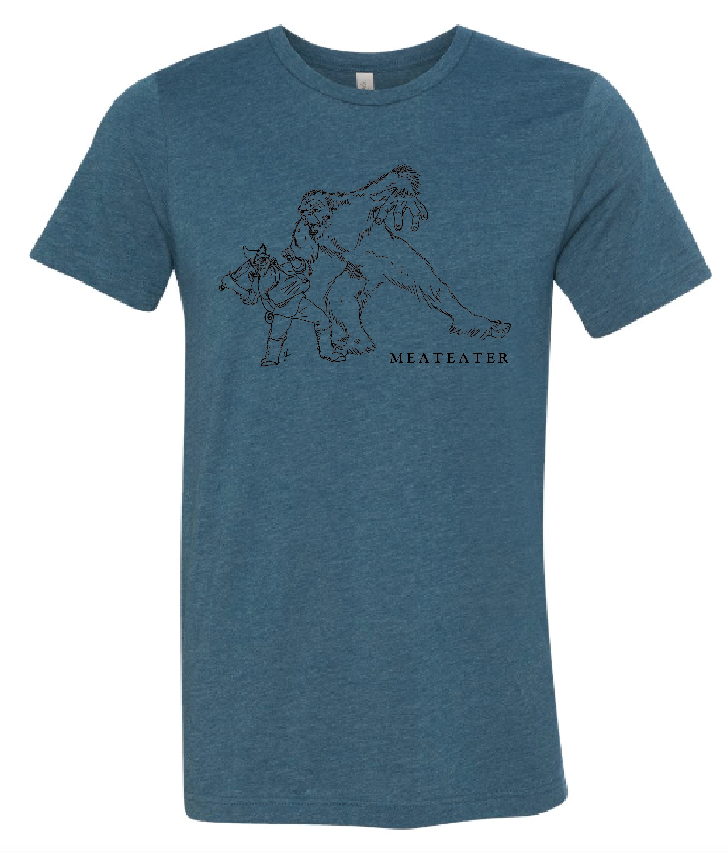 Gnome Tussling with Sasquatch T-Shirt