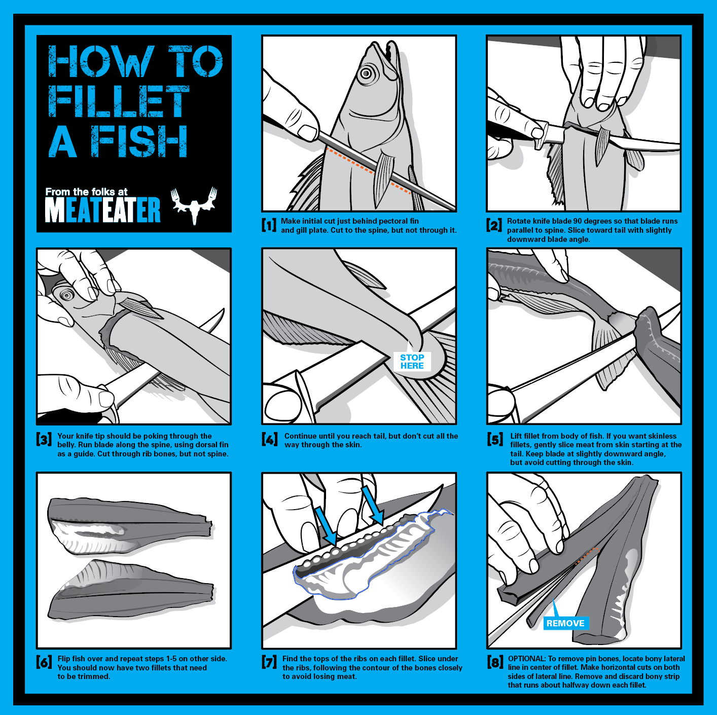 How to Fillet a Fish Bandana